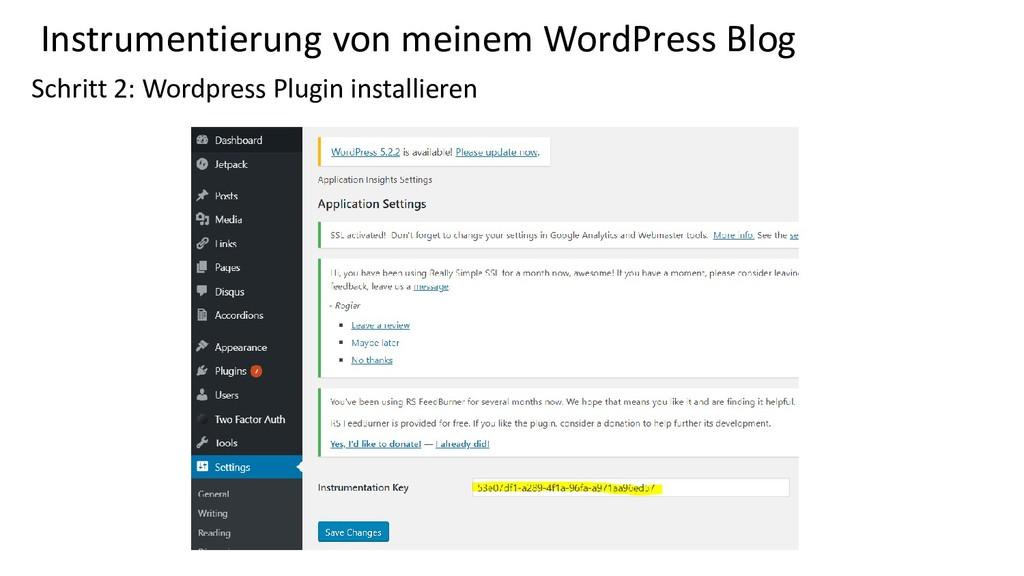 Instrumentierung von meinem WordPress Blog Schr...