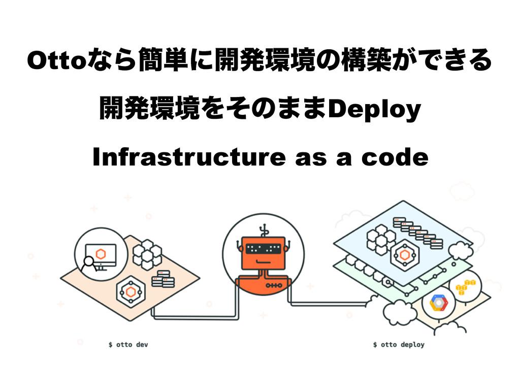 OttoͳΒ؆୯ʹ։ൃڥͷߏங͕Ͱ͖Δ ։ൃڥΛͦͷ··Deploy Infrastruc...