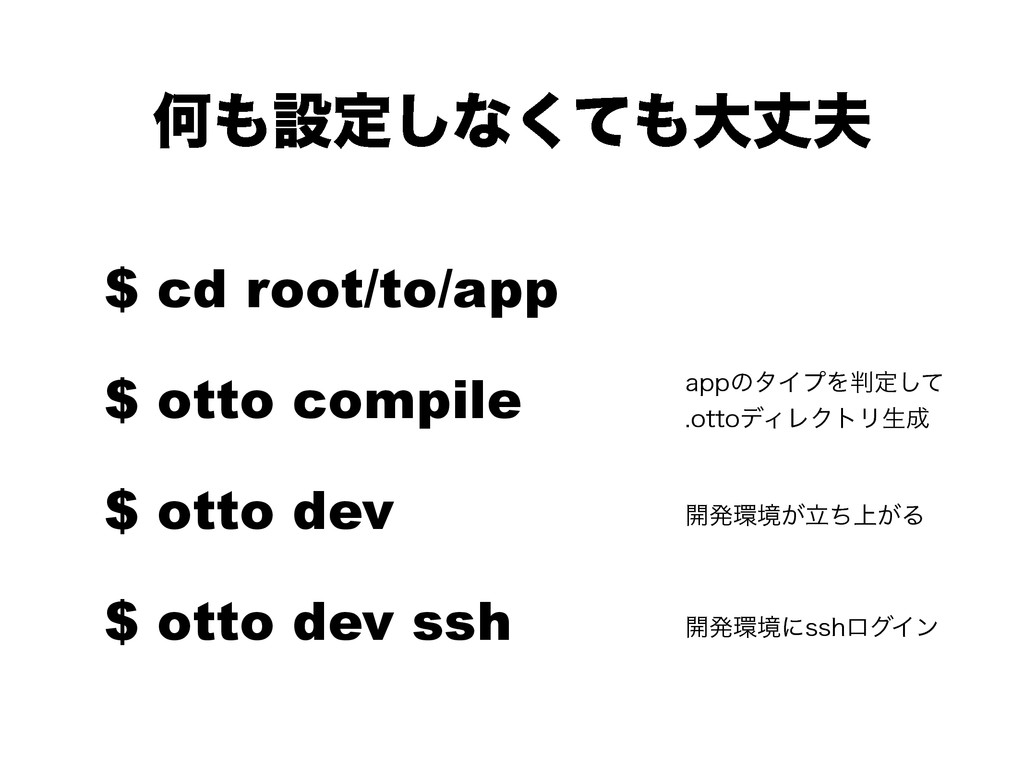 Կઃఆ͠ͳͯ͘େৎ $ cd root/to/app $ otto compile $ ...