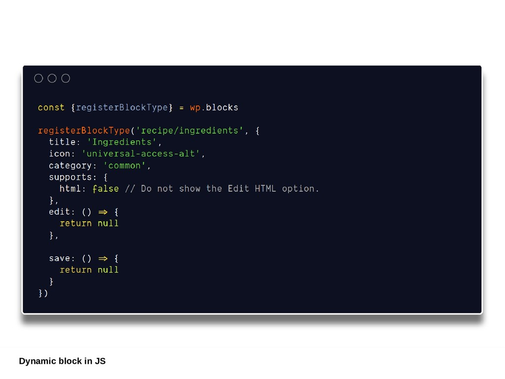 Dynamic block in JS