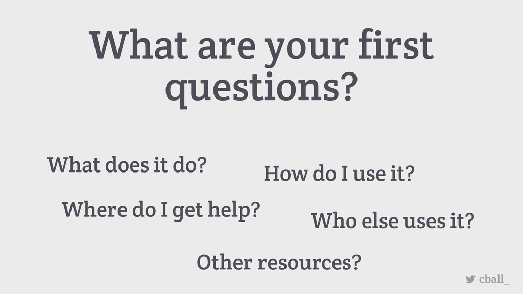 What are your first questions? How do I use it?...