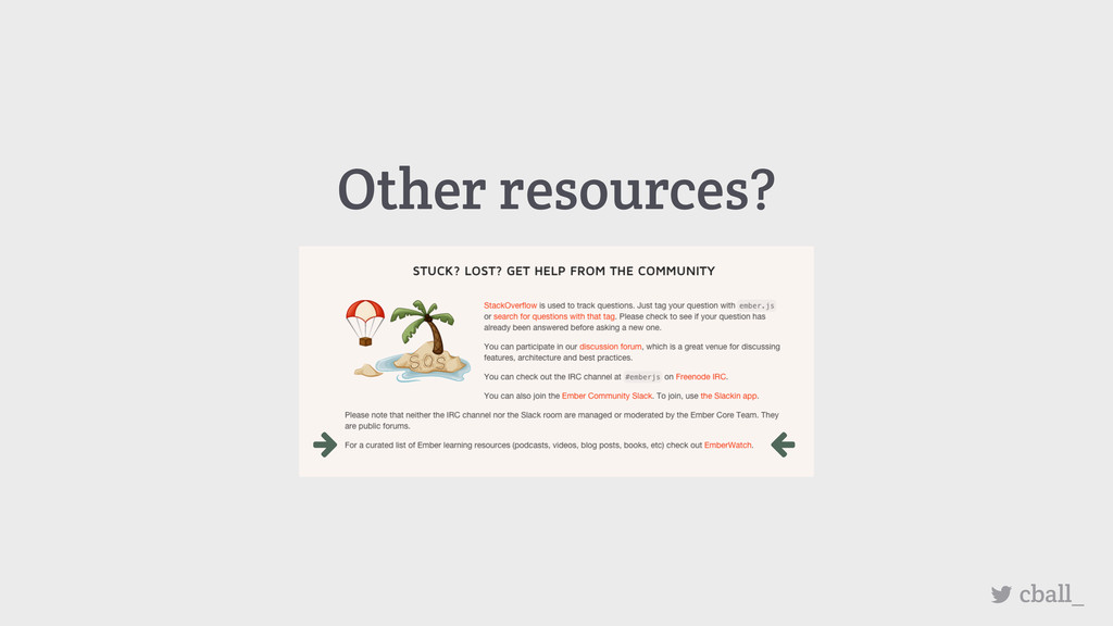 Other resources? cball_
