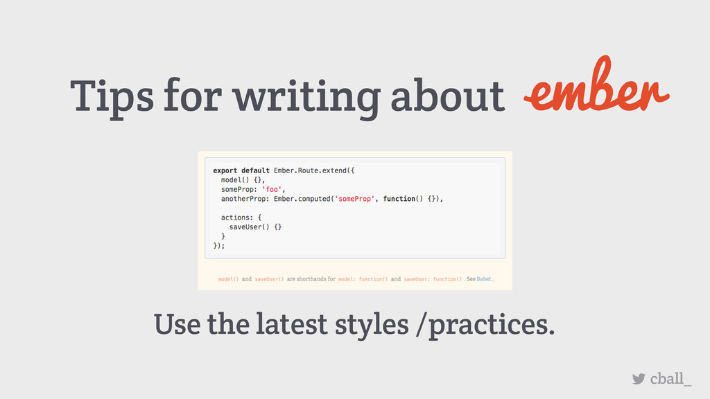 Tips for writing about cball_ Use the latest st...