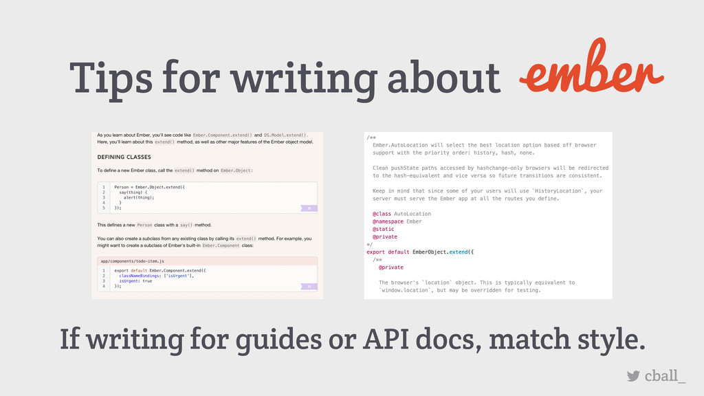 Tips for writing about cball_ If writing for gu...