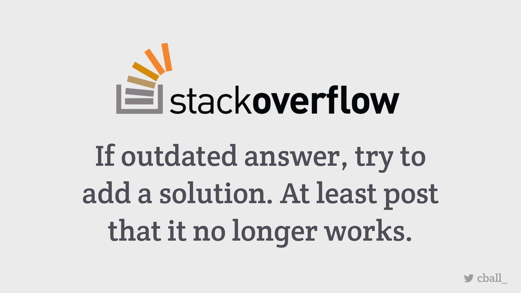 If outdated answer, try to add a solution. At l...