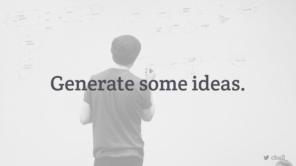 Generate some ideas. cball_