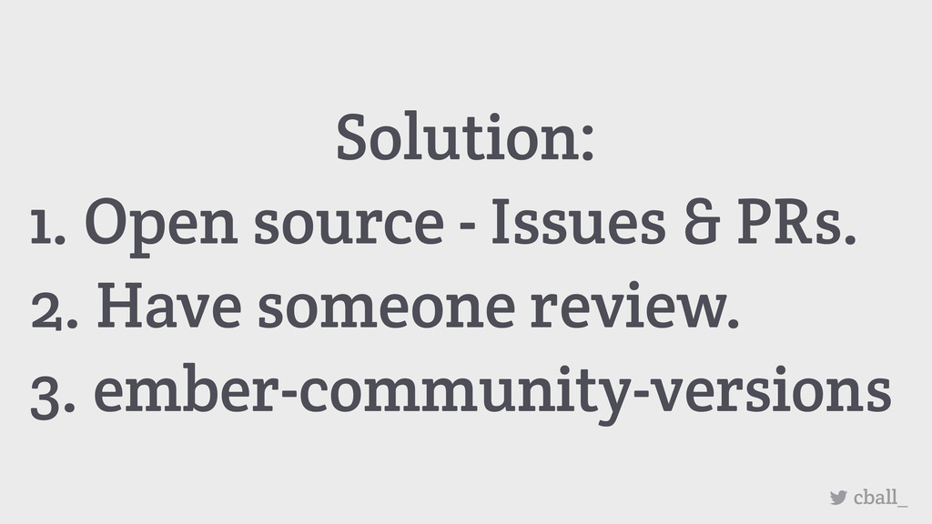 Solution: 1. Open source - Issues & PRs. 2. Hav...