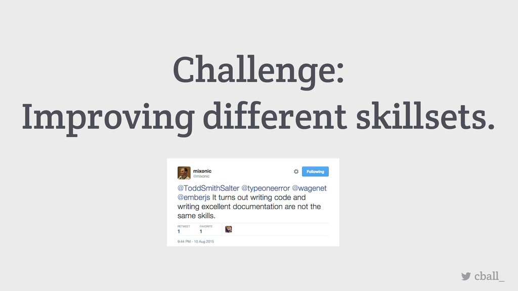 cball_ Challenge: Improving different skillsets.