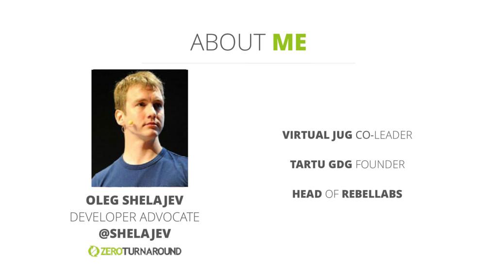 OLEG SHELAJEV DEVELOPER ADVOCATE @SHELAJEV VIRT...