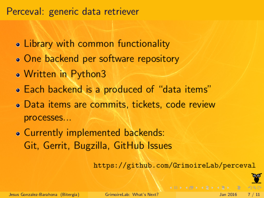 Perceval: generic data retriever Library with c...