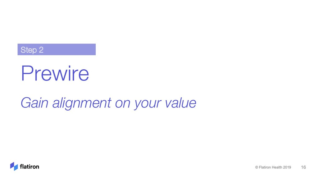 Prewire Gain alignment on your value Step 2
