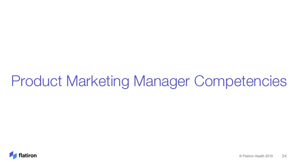 Product Marketing Manager Competencies