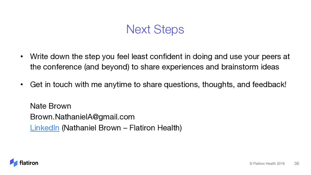 • Write down the step you feel least confident ...