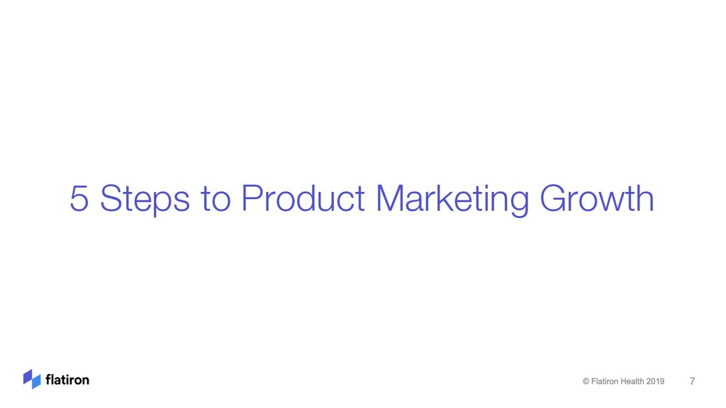 5 Steps to Product Marketing Growth