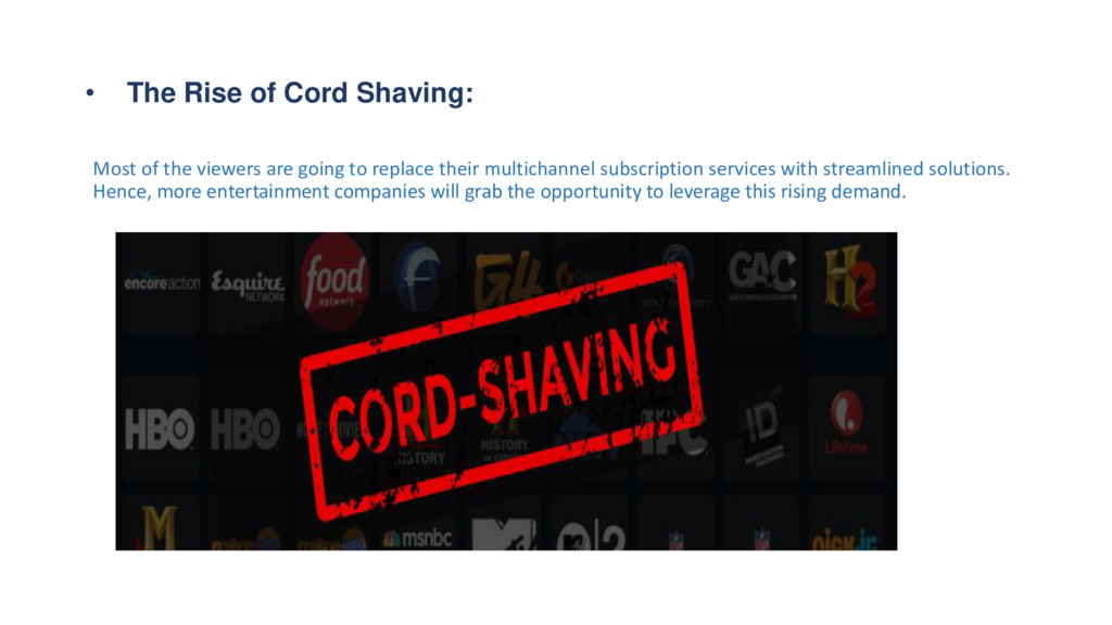 • The Rise of Cord Shaving: Most of the viewers...