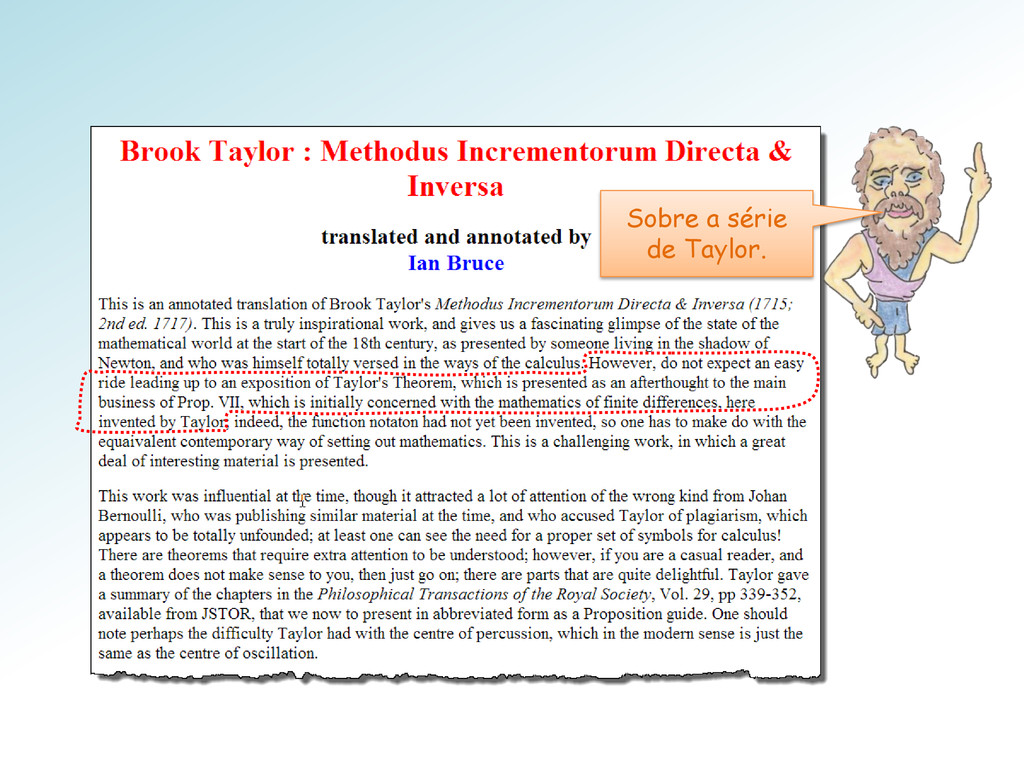 Sobre a série de Taylor.