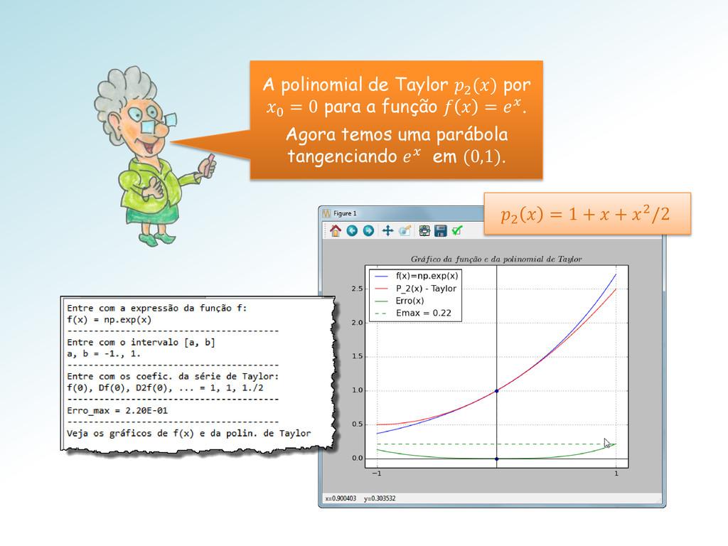 A polinomial de Taylor 2 () por 0 = 0 para a fu...