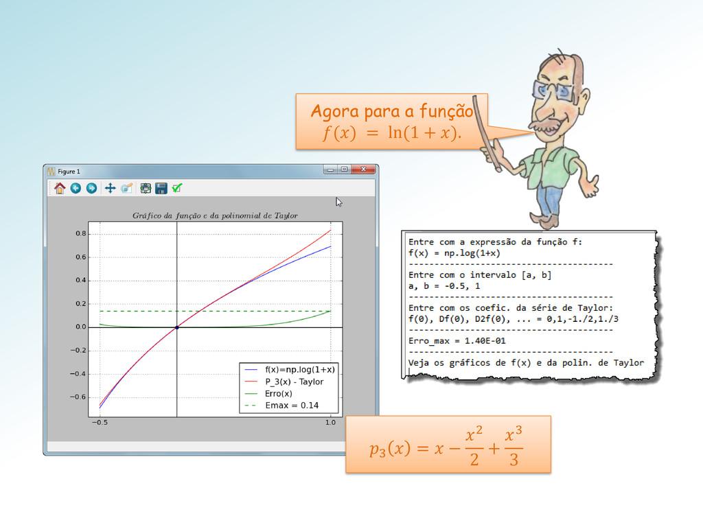 Agora para a função () = ln (1 + ). 3  =  − 2 2...