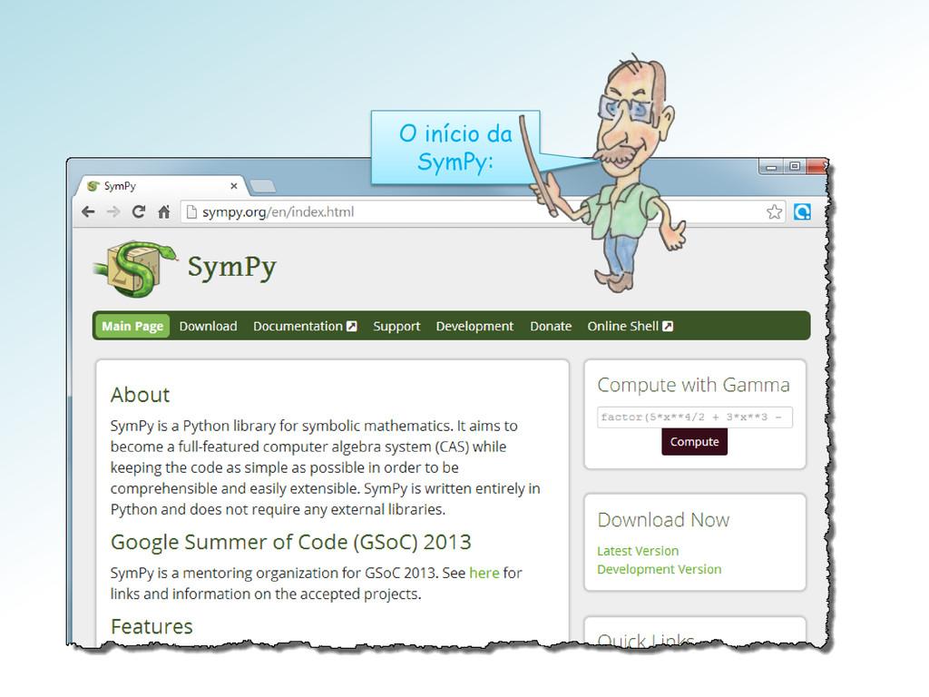 O início da SymPy: