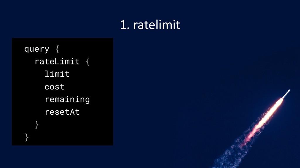 1. ratelimit