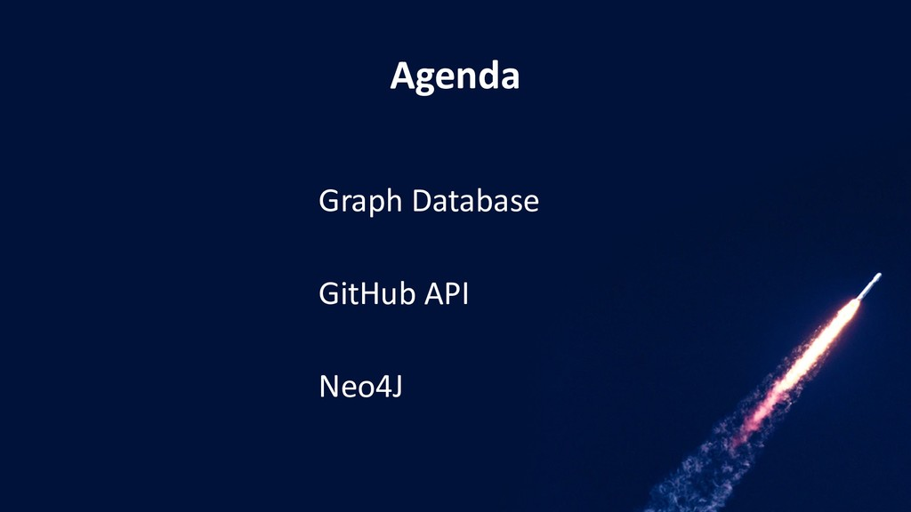 Agenda Graph Database GitHub API Neo4J