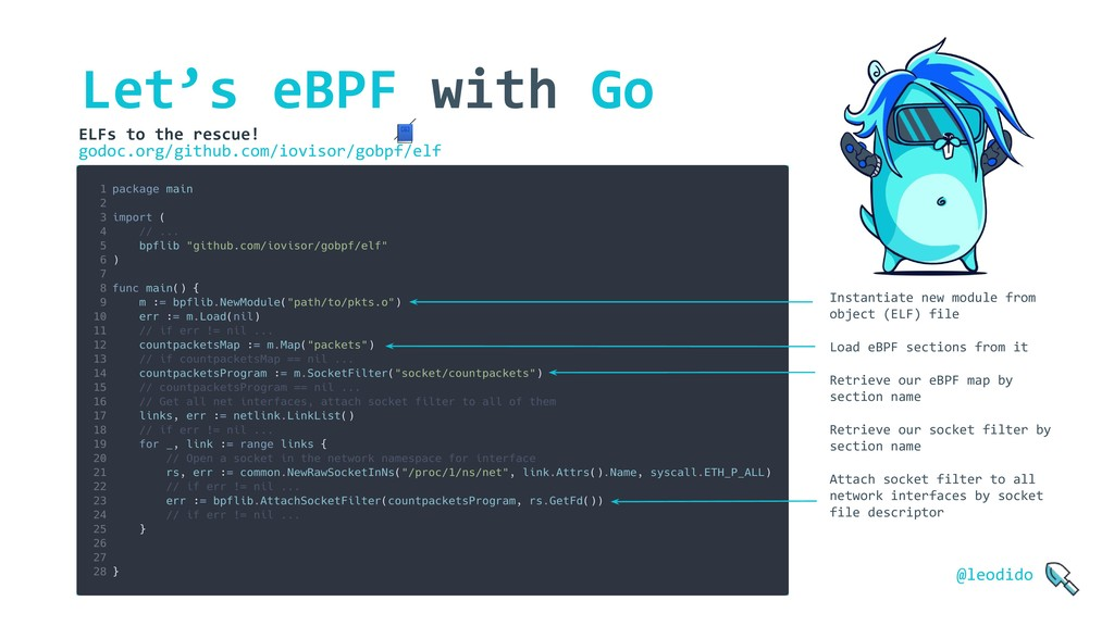 Let's eBPF with Go ELFs to the rescue!  godoc.o...