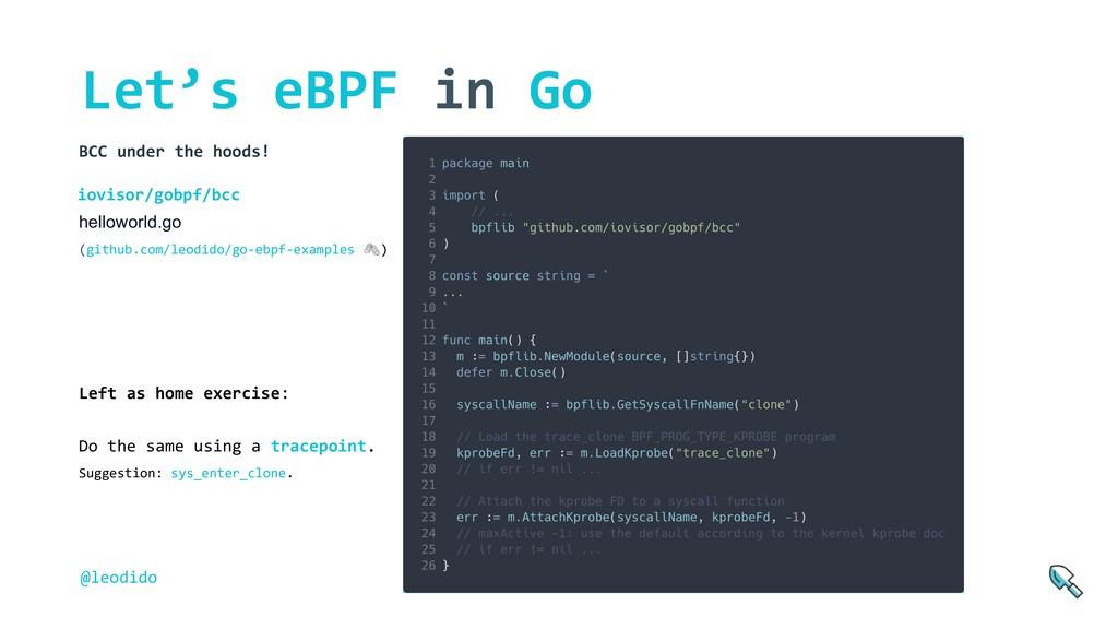 Let's eBPF in Go helloworld.go (github.com/leod...