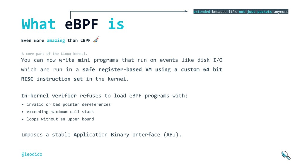 What eBPF is You can now write mini programs th...
