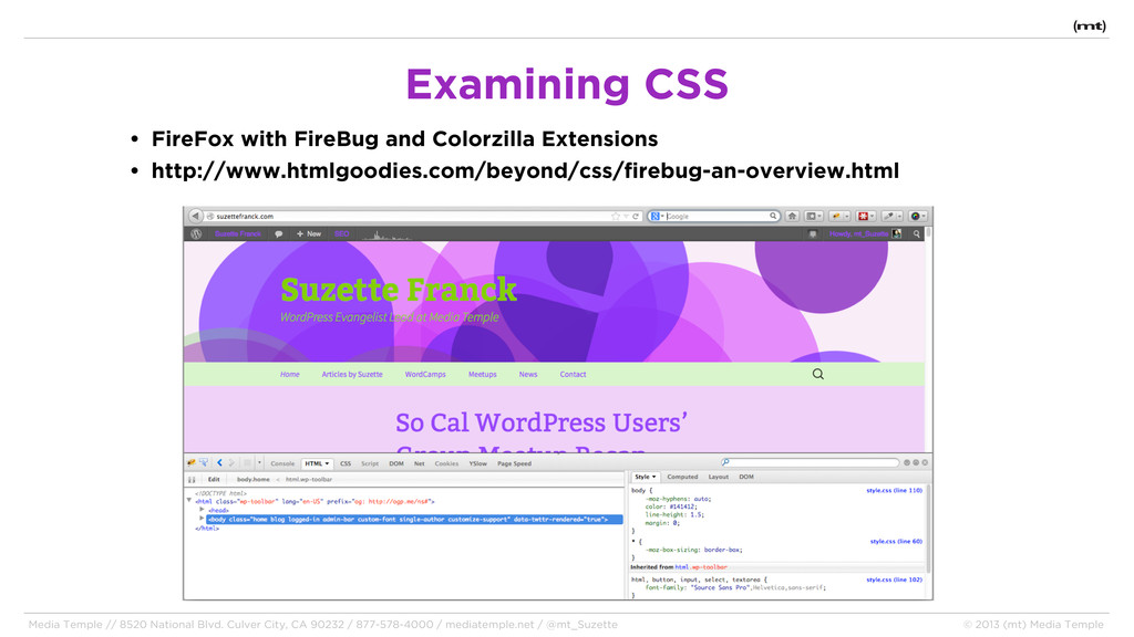 • FireFox with FireBug and Colorzilla Extension...