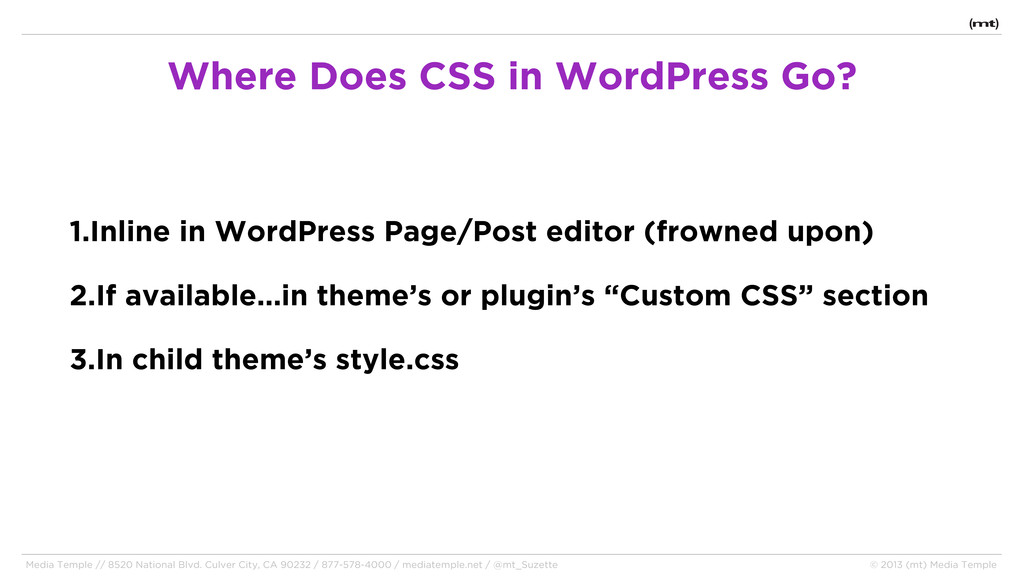 1.Inline in WordPress Page/Post editor (frowned...