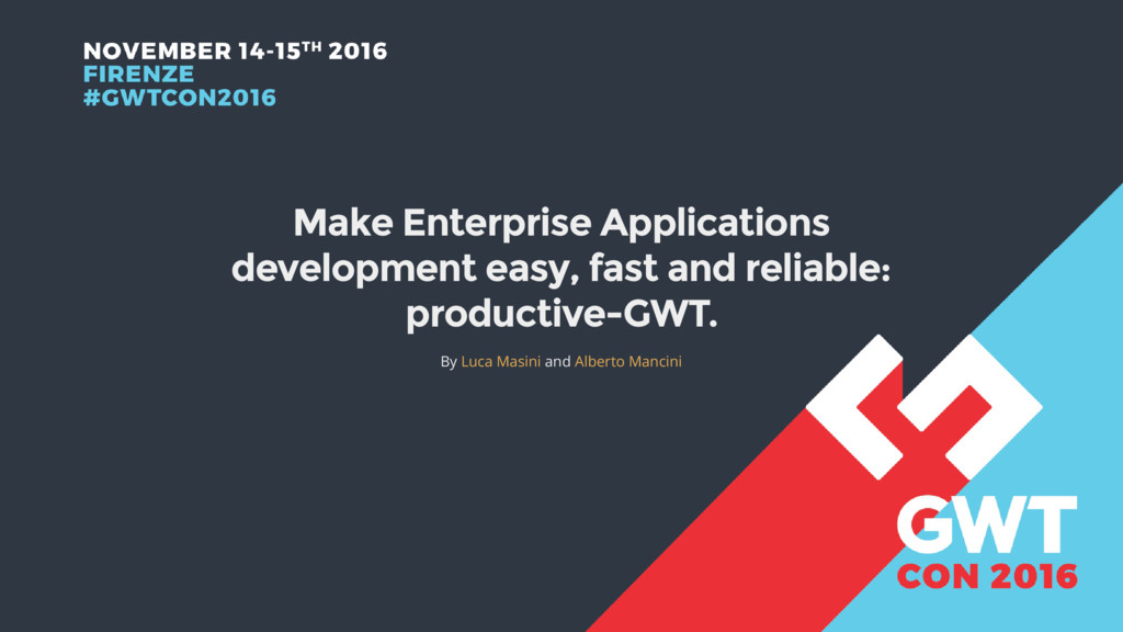 Make Enterprise Applications development easy, ...