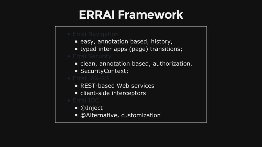 ERRAI Framework Errai Navigation easy, annotati...