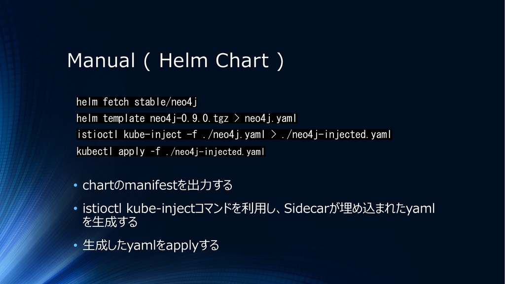 Manual ( Helm Chart ) helm fetch stable/neo4j h...