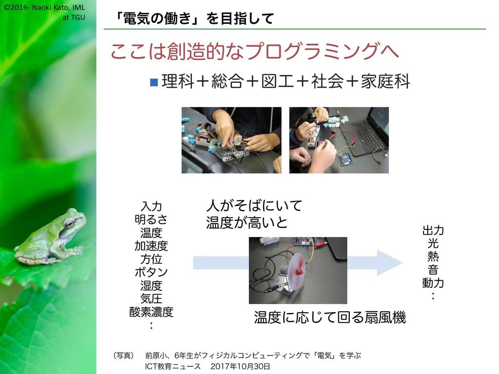 ©2016- Naoki Kato, IML at TGU 「電気の働き」を目指して ここは創...