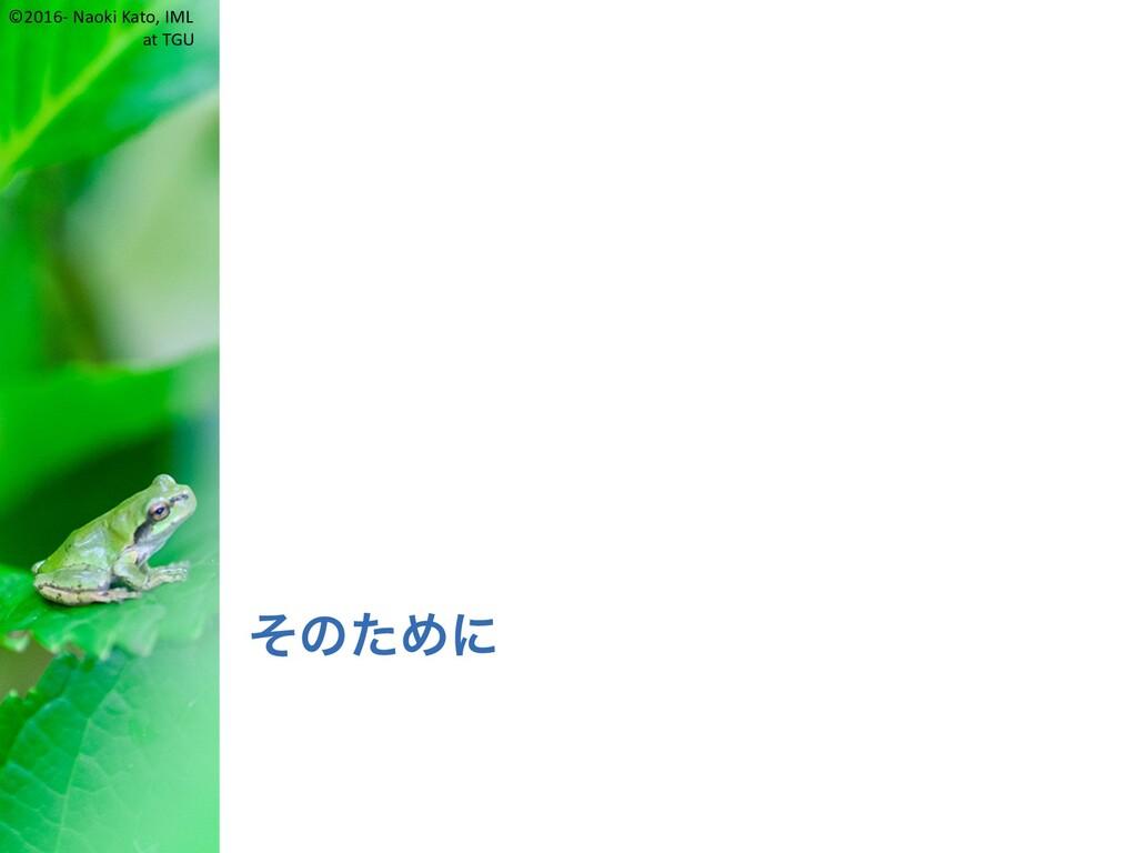 ©2016- Naoki Kato, IML at TGU そのために