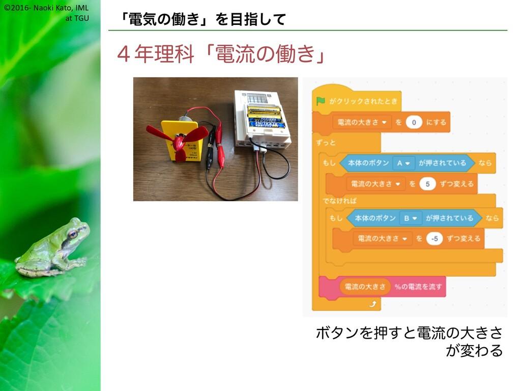 ©2016- Naoki Kato, IML at TGU 「電気の働き」を目指して 4年理科...