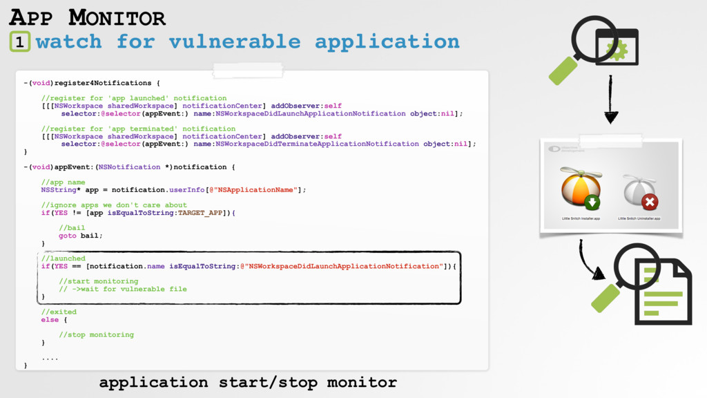watch for vulnerable application APP MONITOR 1 ...