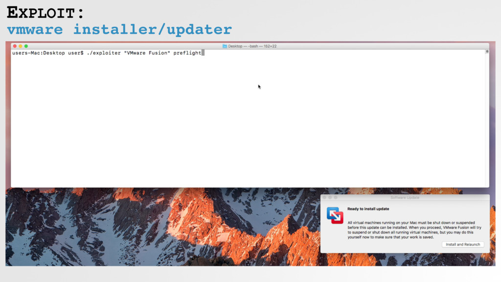 vmware installer/updater EXPLOIT: