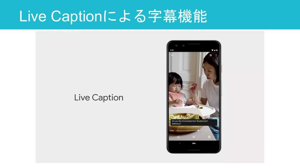 Live Captionによる字幕機能 14