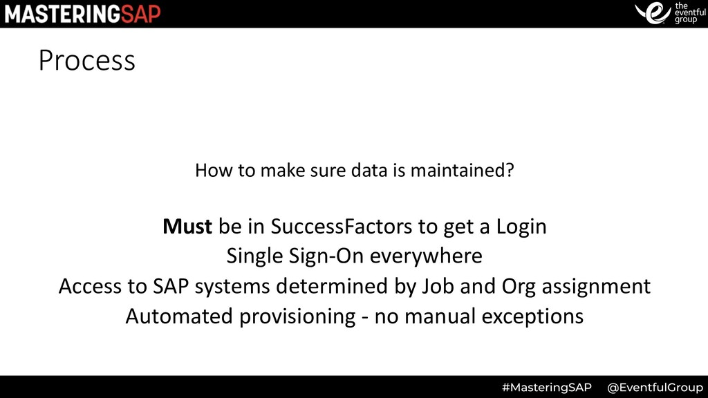 Process How to make sure data is maintained? Mu...