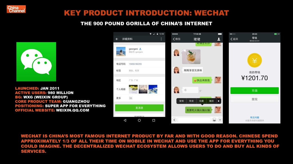 KEY PRODUCT INTRODUCTION: WECHAT THE 900 POUND ...