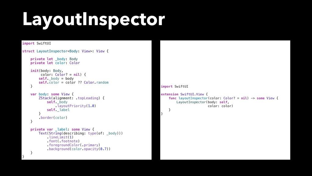 LayoutInspector import SwiftUI struct LayoutIns...