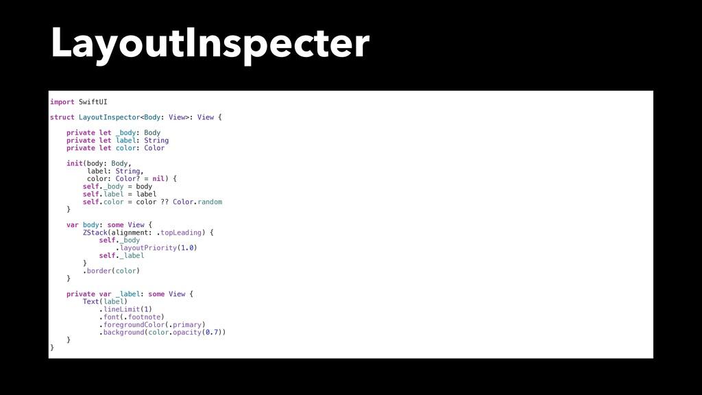 LayoutInspecter import SwiftUI struct LayoutIns...