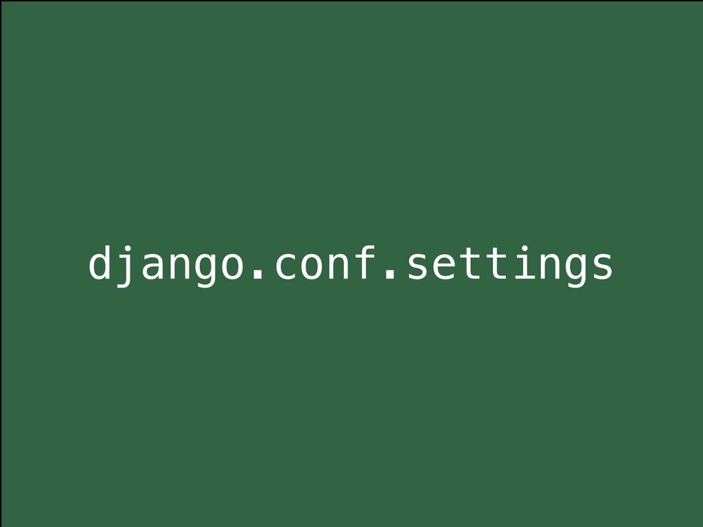 django.conf.settings