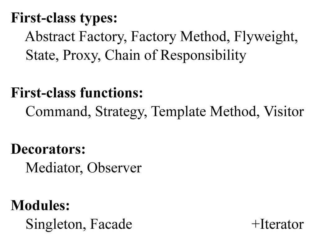 First-class types: Abstract Factory, Factory Me...