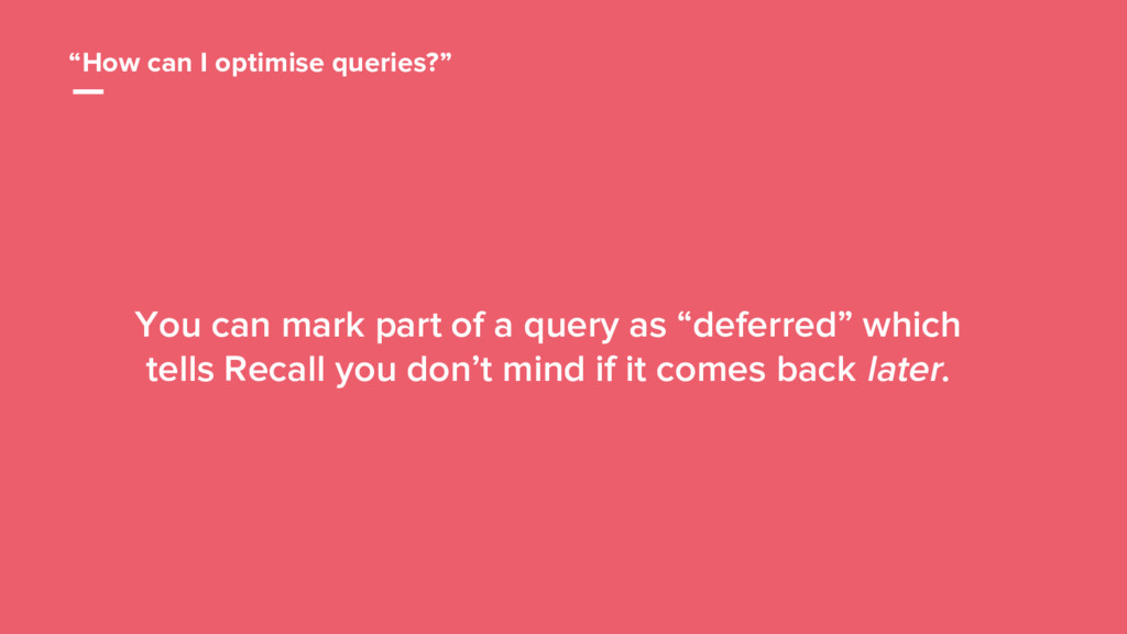 "46 ""How can I optimise queries?"" You can mark p..."