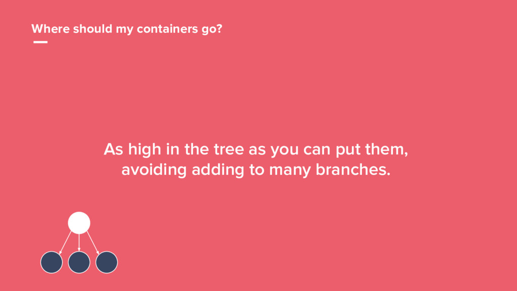 48 Where should my containers go? As high in th...