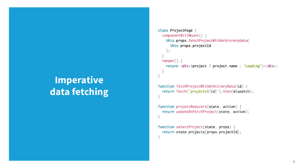 6 Imperative data fetching