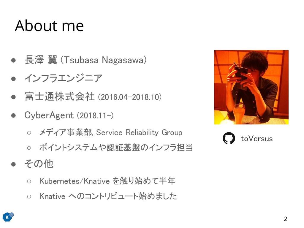 2 ● 長澤 翼 (Tsubasa Nagasawa) ● インフラエンジニア ● 富士通...