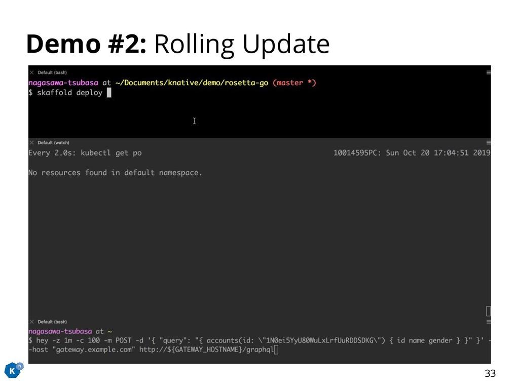 Demo #2: Rolling Update 33